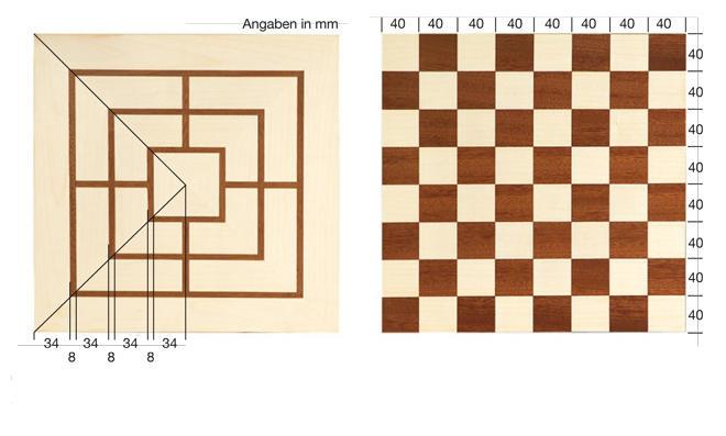 Schachbrett: Zeichnung