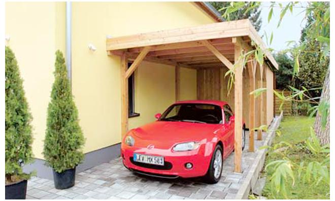 Fußboden Carport Selber Bauen ~ Carport mit geräteraum selbst