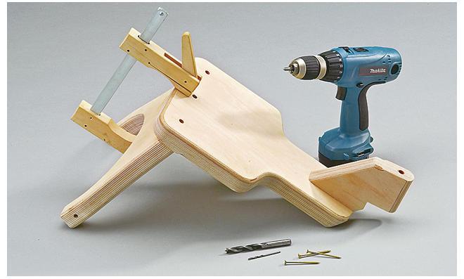 Dreirad selber bauen: Sackloch bohren