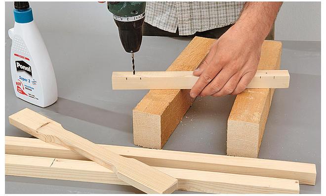 Tischgestell bauen