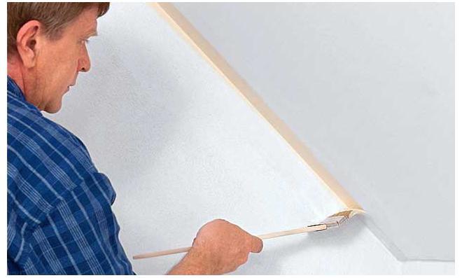 Dachschräge streichen