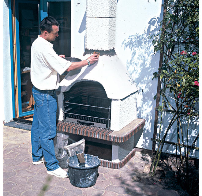 Grillkamin selber bauen cheap grillkamin grill selber for Steine streichen