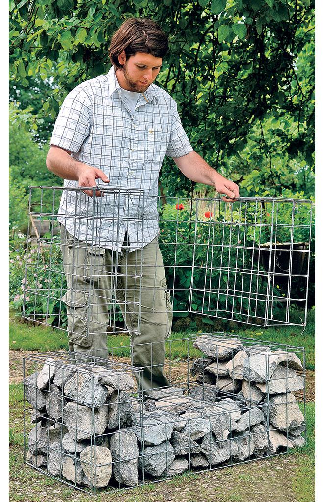 Holzkohlegrill bauen