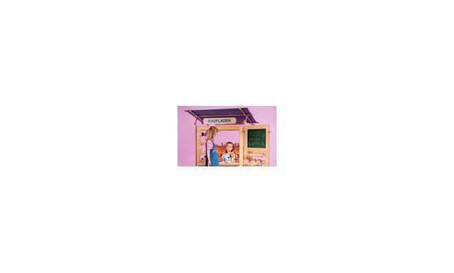 Multi-Spielwand: Kinder-Kaufladen und Puppen-Theater