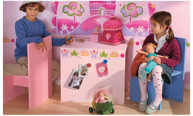 Kindermöbel im Prinzessinnen-Look