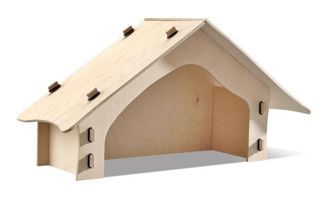 Krippe aus Sperrholz bauen