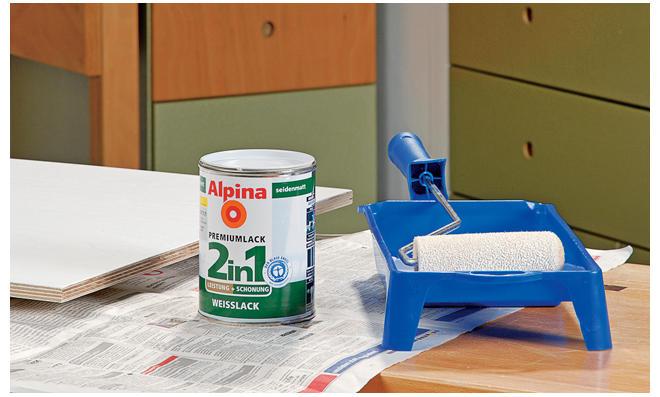 Küchenschrank lackieren