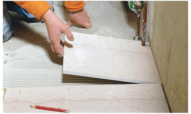 Marmor Fußbodenplatten ~ Marmor verlegen selbst