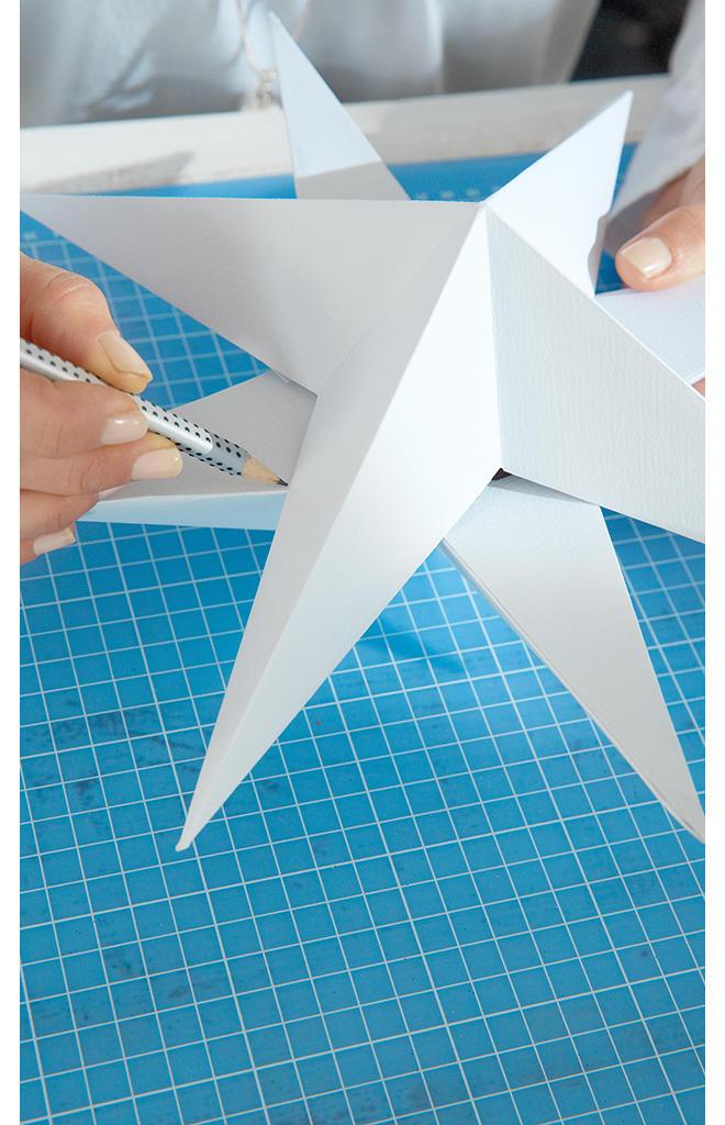 Papierstern basteln