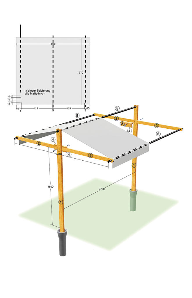 holz pavillon 3x3 selber bauen pretty design pavillon mit. Black Bedroom Furniture Sets. Home Design Ideas