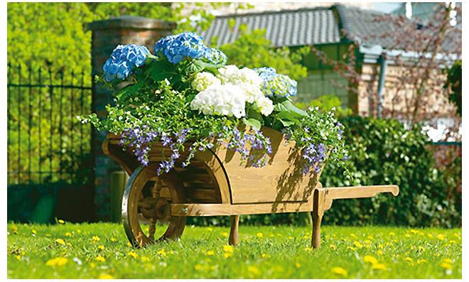 Blumen-Schubkarre bauen