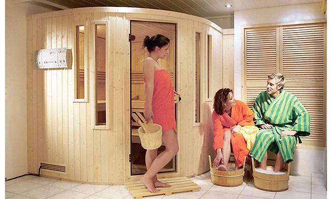 Sauna im Keller