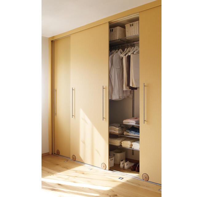 wandschrank mit schiebet ren vv74 hitoiro. Black Bedroom Furniture Sets. Home Design Ideas