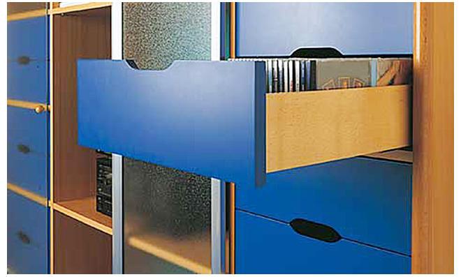 Schubladenschiene Vollauszug Schubkasten Rollschubführung für Schubladen 40 kg