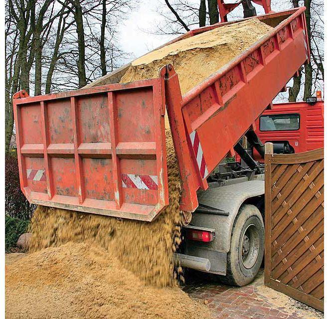 Sand-Lieferung