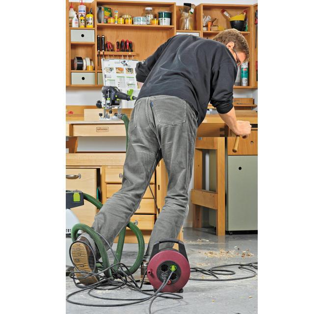 Arbeitssicherheit an Elektrowerkzeug