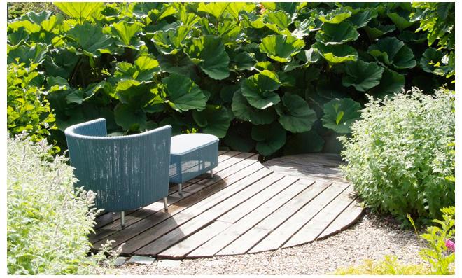 Sitzpltze Im Garten.
