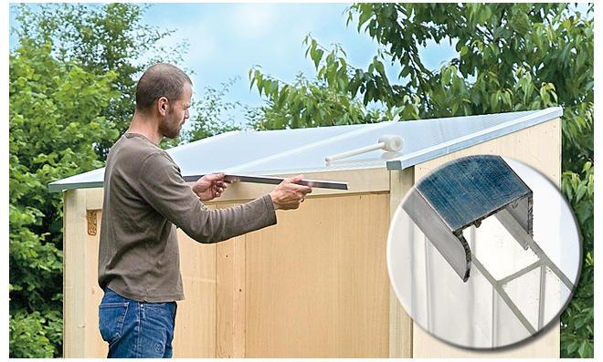 Dach: Doppelstegplatten abdichten