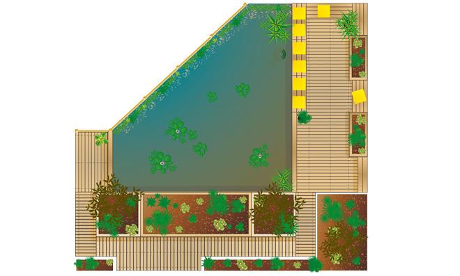 Hochteich mit Terrasse
