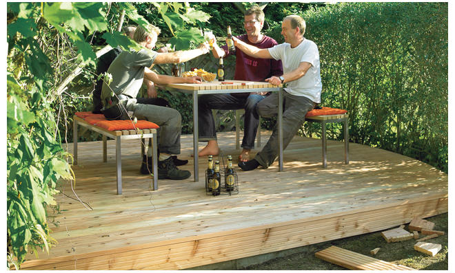 Fußboden Terrasse ~ Fußboden terrasse » gartenhaus g inkl fußboden und terrasse mm