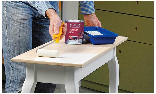 Tischplatte weiß lackieren  Tisch lackieren | selbst.de