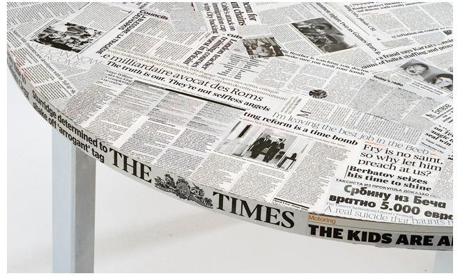 Schrank Mit Zeitung Bekleben tisch gestalten selbst de