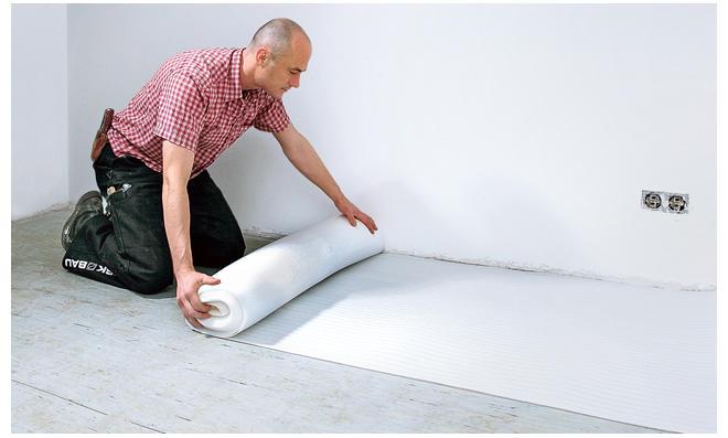 Fußbodenunterlage ~ Trittschalldämmung für laminat selbst.de