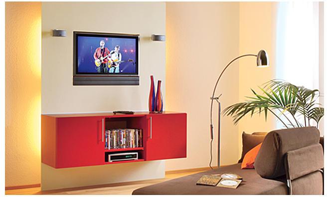 TV Wand Mit Hängeschrank