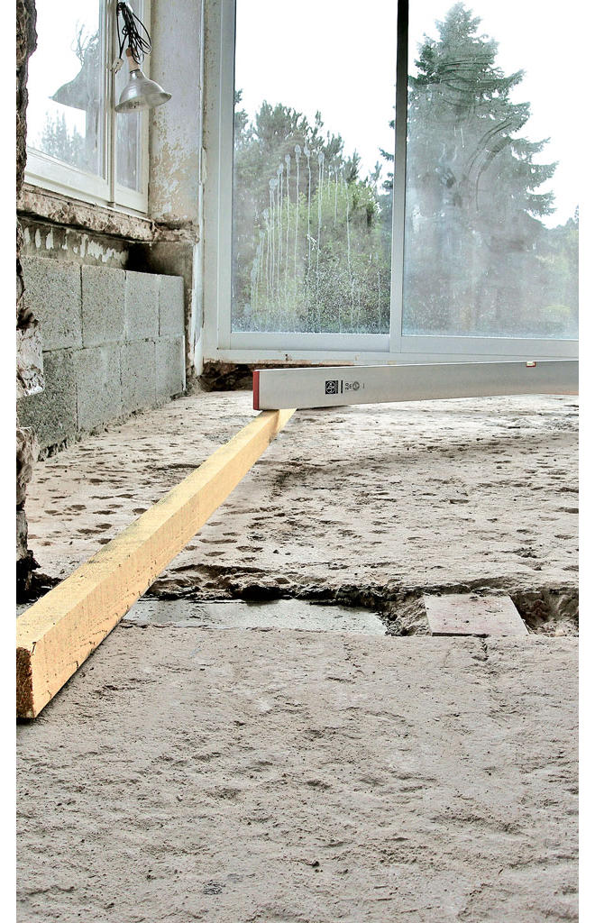 Bodenbelag: Untergrundvorbereitung