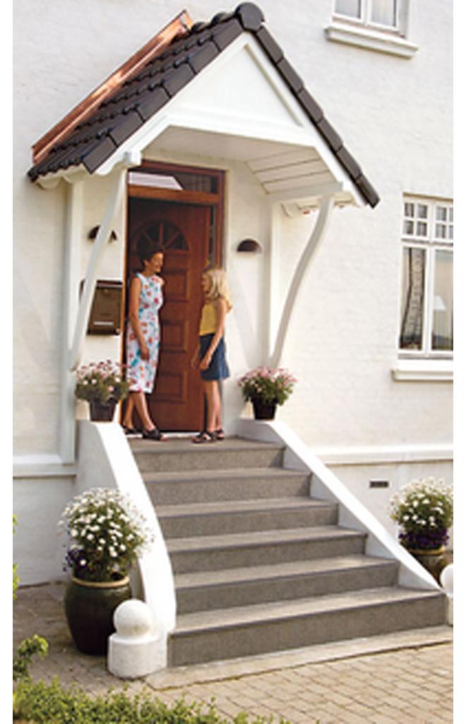 windfang selber bauen, vordach für haustür | selbst.de, Design ideen