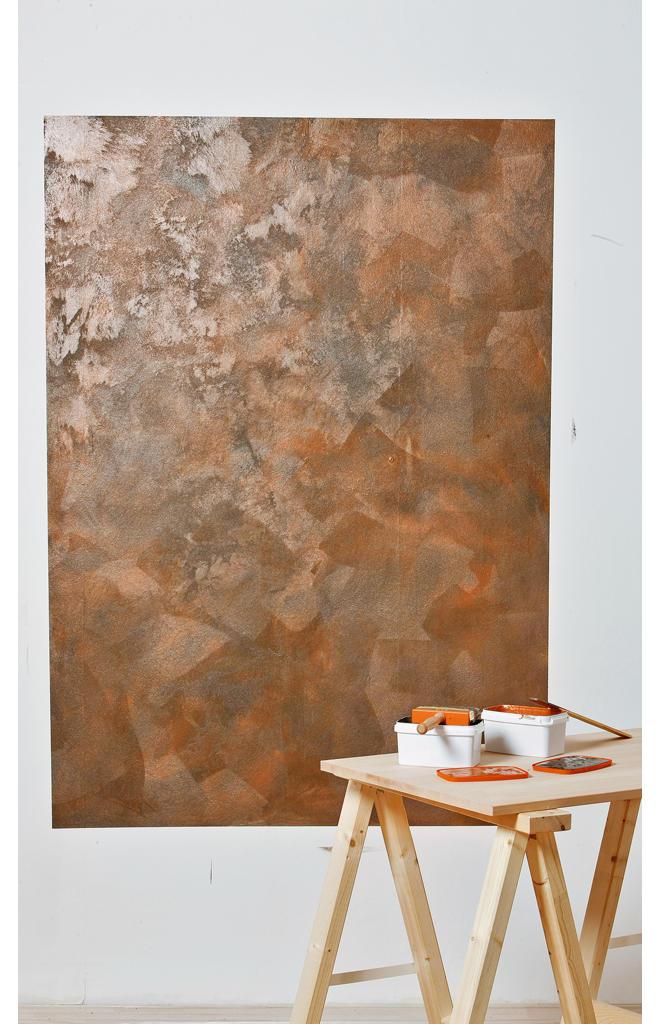 Osb Platten Streichen Wandfarbe rostfarbe selbst de