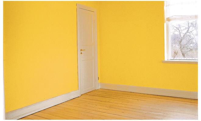 Zimmer ohne Wandverkleidung
