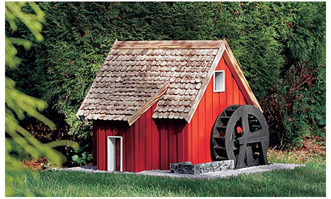 Bauplan Wassermühle