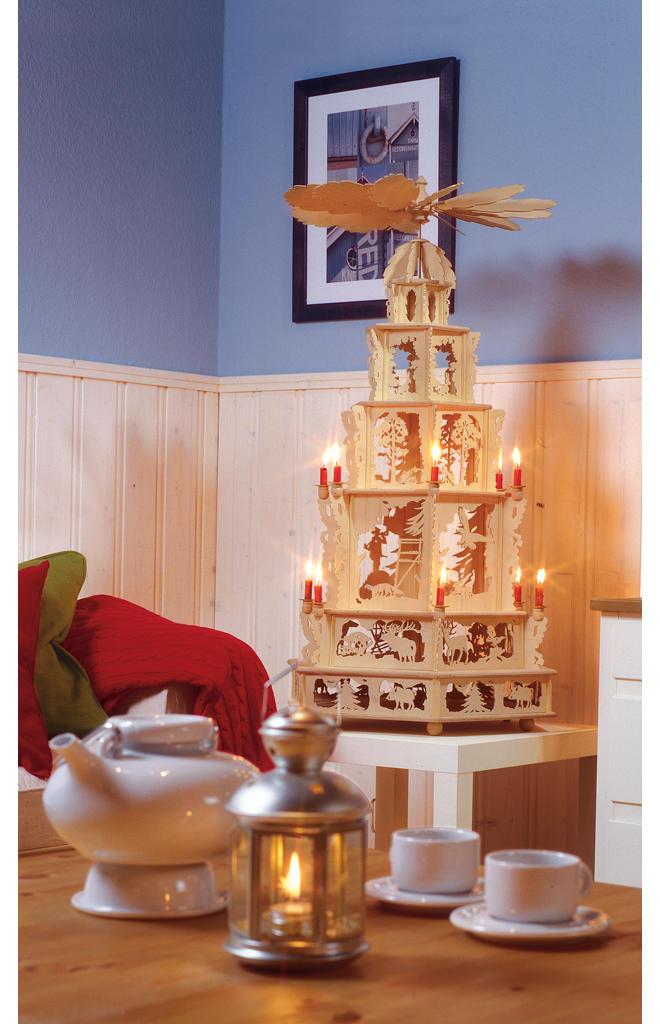 Weihnachtspyramide bauen
