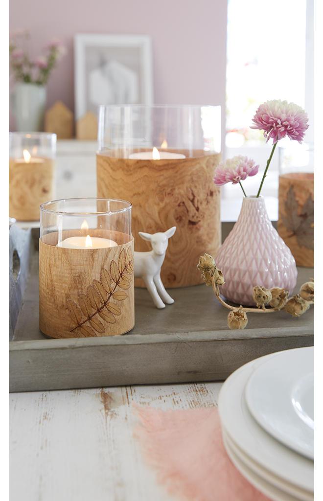 Windlicht Mit Holz Basteln