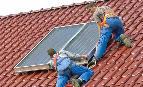 Solaranlage: Montage