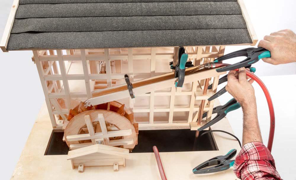 Wasserrad-Mühle