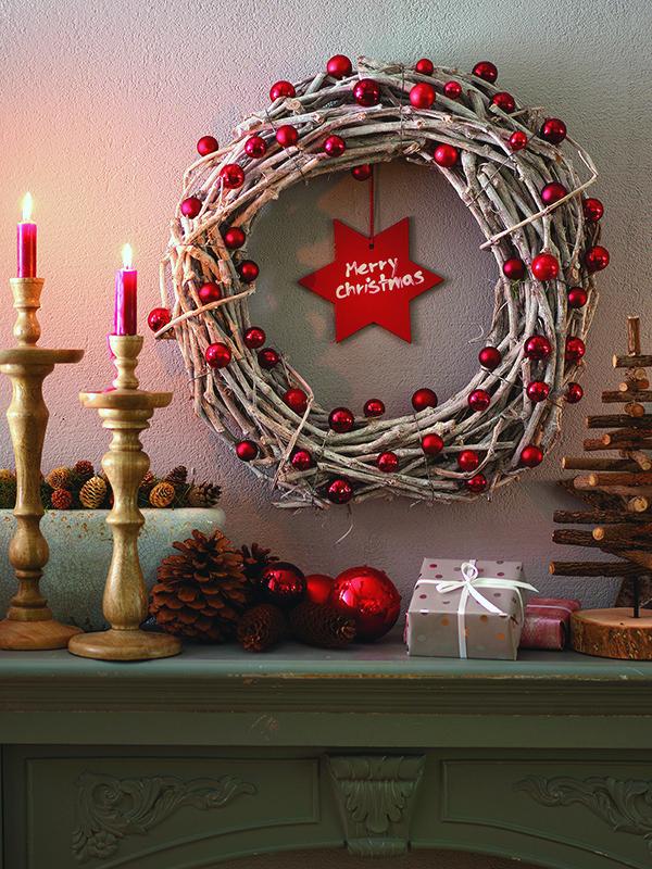Weihnachtskranz basteln