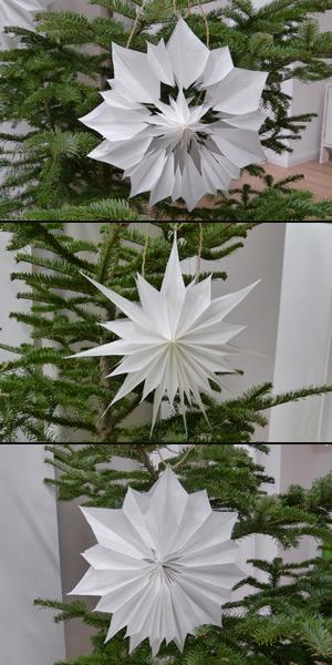 Weihnachtsstern aus Brottüten