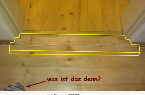 Fußboden Verlegen Tür ~ Kabel bei türschwelle verlegen selbst diy forum