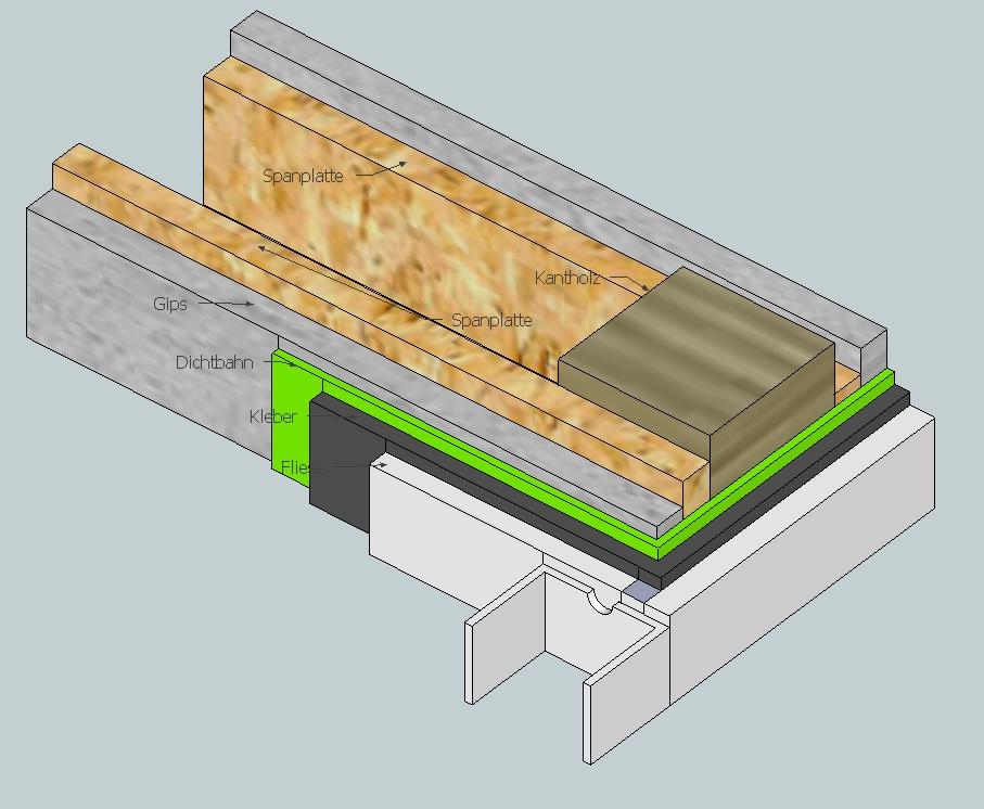 Duschwand auf kante montieren diy forum - Fliesenkleber auf spanplatte ...
