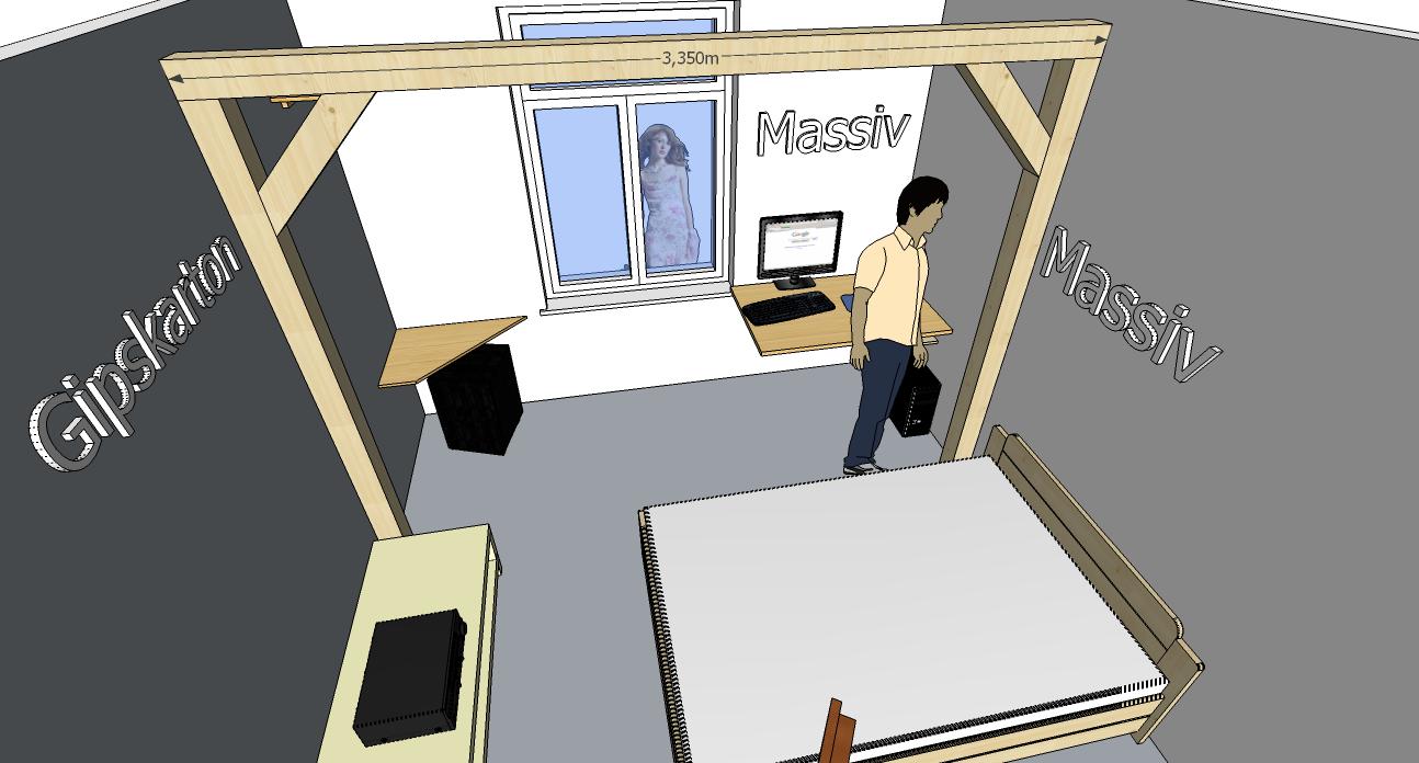 Balken-Gerüst in kleines Zimmer | Selbst.de DIY Forum