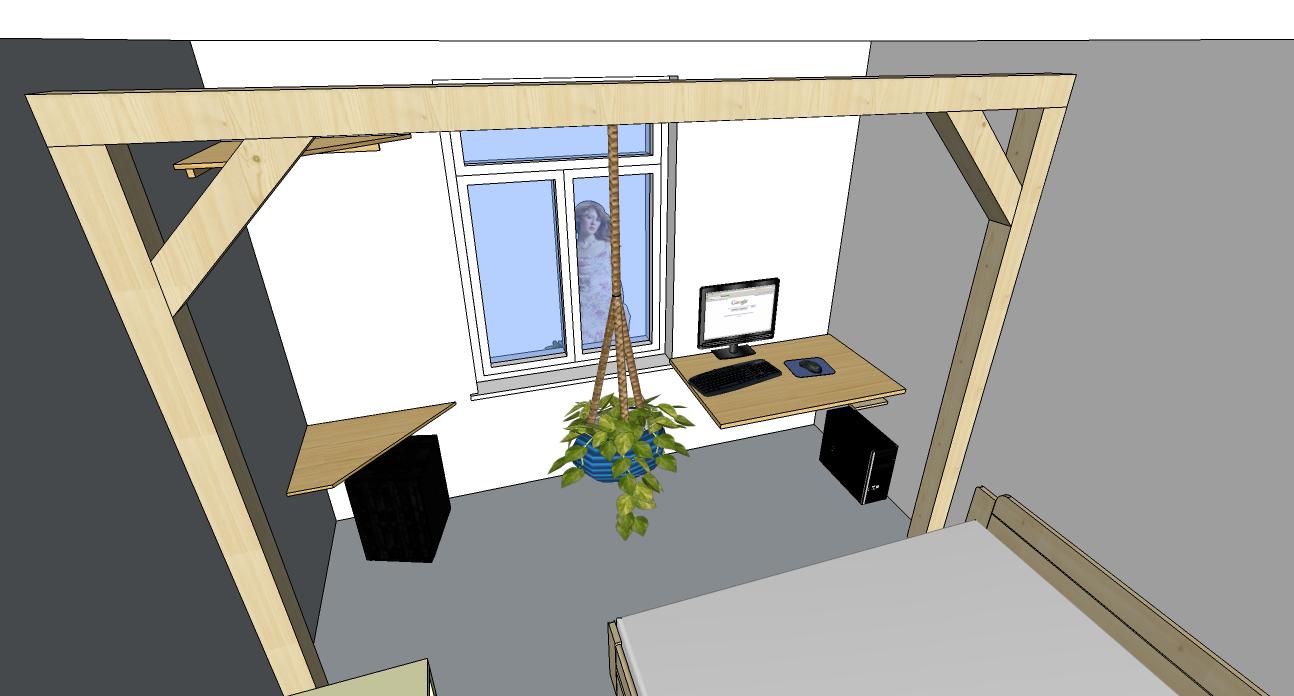 balken ger st in kleines zimmer diy forum. Black Bedroom Furniture Sets. Home Design Ideas