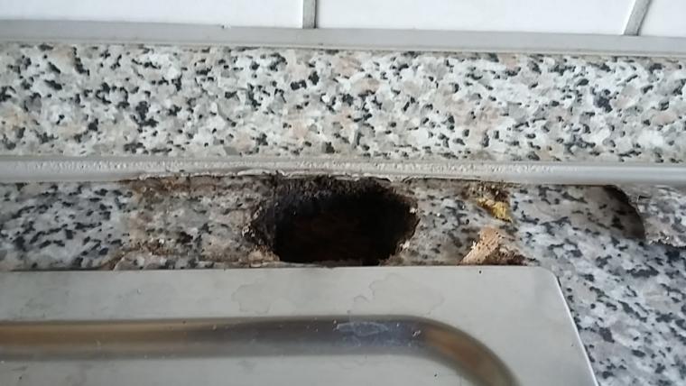 Kuchenarbeitsplatte Zweites Grosses Loch Reparieren Selbst